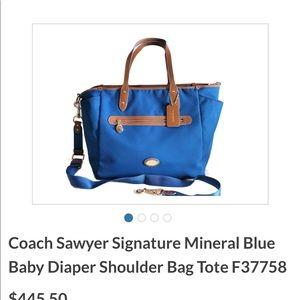 Authentic coach diaper bag NWT
